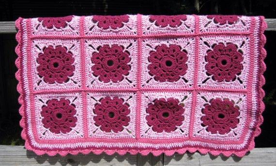 Crochet Maybelle Flower Baby Blanket - Handmade in the USA by Twisted ...