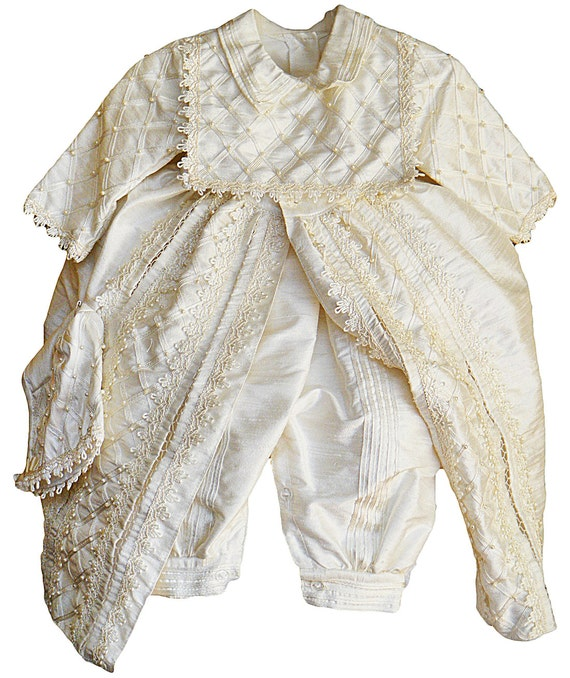 Baby Boy Christening Gown Spanish Style outfit ropones paraMexican Traditional Clothing For Boys