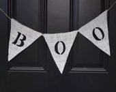Halloween Burlap Boo Banner Halloween Decoration Rustic Decoration Scary Decoration Fall Halloween Door or home Decoration Halloween Decor