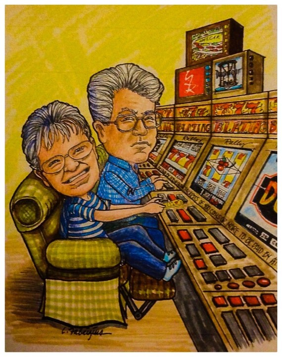 "Caricature of  ""It's Great to be Retired!"" I would love to do a caricature for you too! Visit my shop and let's get started!"