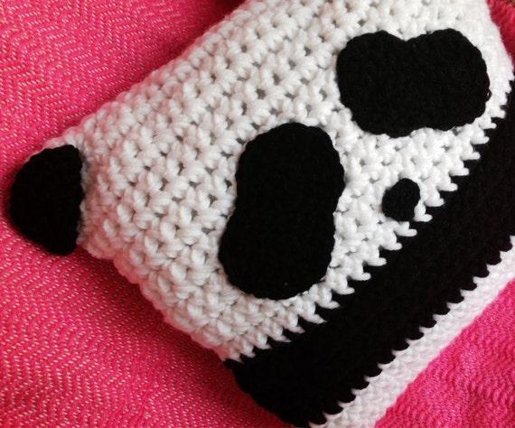Items similar to Crochet Panda Pillow, Panda Pillow, Nursery Pillow, Cute Pillow, Kids Pillow ...