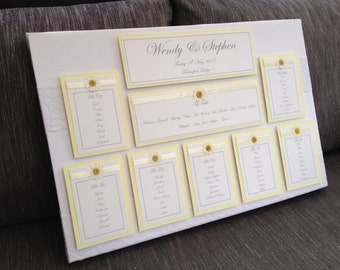 Daisy Lace Wedding Seating/Table Plan Canvas