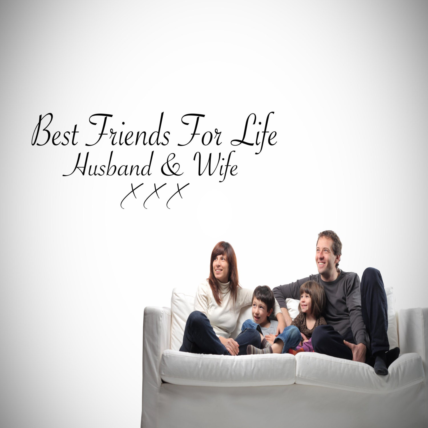 Best Friends Husband And Wife Wall Art Sticker Lounge Quote