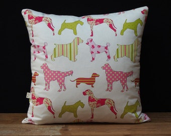 Dogs & Stripes Cushion