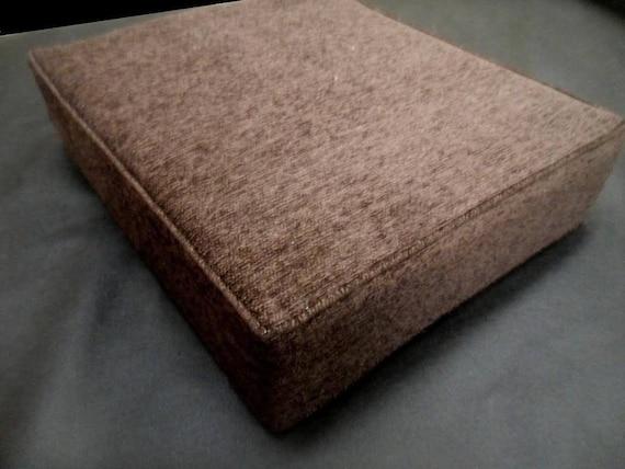 Custom sofa seat cushion 26 x 24 x 5 brown for Sofa cushion covers made to order