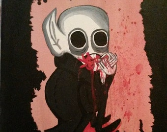Nosferatu - what we do in the shadows, )vampire art, acrylic painting, gothic art, one of a kind, original piece by kayliegh kartoons