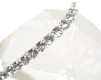 Tennis Stretch Bracelet with Clear Crystals