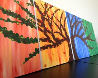 Four Seasons Canvas Wall Art
