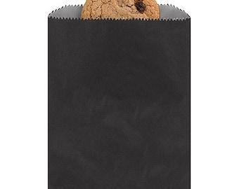 Plain Black Paper Favor Bags