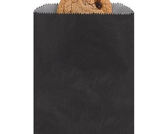 Plain Black Paper Favor Bags (Pack of 25)