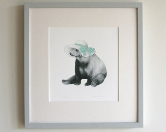 Signed Limited Edition Summer Bear Print