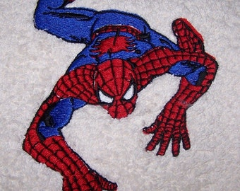 Personalised embroidered Spider man bath towel (100% cotton)