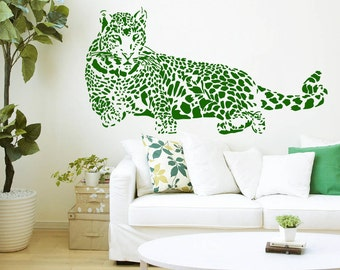 Wall Decal Vinyl Sticker Decals Art Home Decor Design Mural Leopard Print Wild Cat Wildcat Animals Panther Tiger Bedroom Bathroom Dorm AN98