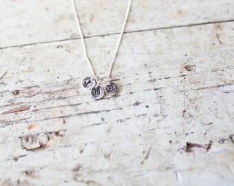 Inital Necklace - Triple Letter - Personalized Initial Necklace, Letter Necklace, gift, Name necklace, letter charm, graduation