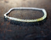 Ombre Bracelet, Yellow Sapphire Bracelet Beaded, Ombre Gemstone Color Spectrum, Happy Sunshine Bracelet, Sterling Silver Handmade Jewelry