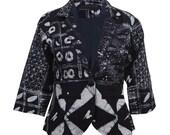 Blue Blazer, Summer Blazer, African Clothing, Hand-dyed Tie Die Jacket, Womens blazer, Tribal print, African print blazer, African Indigo