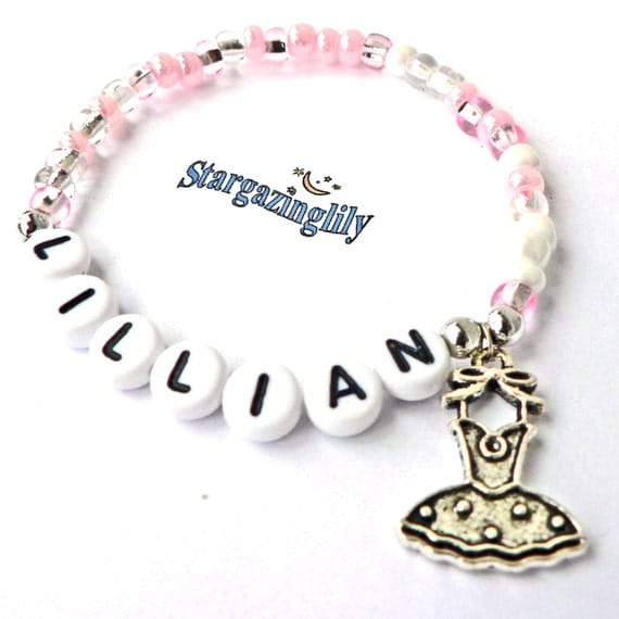 Children s Jewelry Name Bracelet PERSONALIZED with Ballet