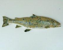 Atlantic Salmon Ceramic art fish wall hanging
