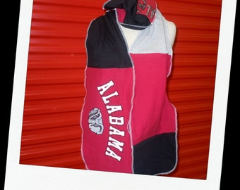 Football Scarf Recycled Tshirts Unisex Great gift Alabama
