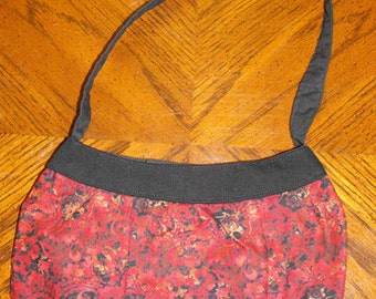Red Paisley Print Small Buttercup Bag