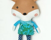 SHIPS FAST Fox Doll Plush Toy Softie Stuffed Animal for Baby and Children Woodland Animal Baby Toddler Christmas Gift