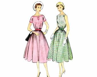1950s Womens Dress Vintage Sewing Pattern McCalls 3068 Misses Size 16 Bust 34 UNCUT
