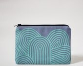 MINI zip pouch - ORBIT in Sky Blue