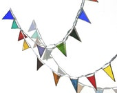 Stained Glass Bunting Garland Colourful Window Suncatcher Decoration
