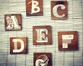 Alphabet Letters wall hanging on Reclaimed Barn Wood - Great for Baby Nursery