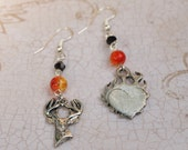 Flaming Stag- Game of Thrones Stannis Baratheon Inspired Earrings