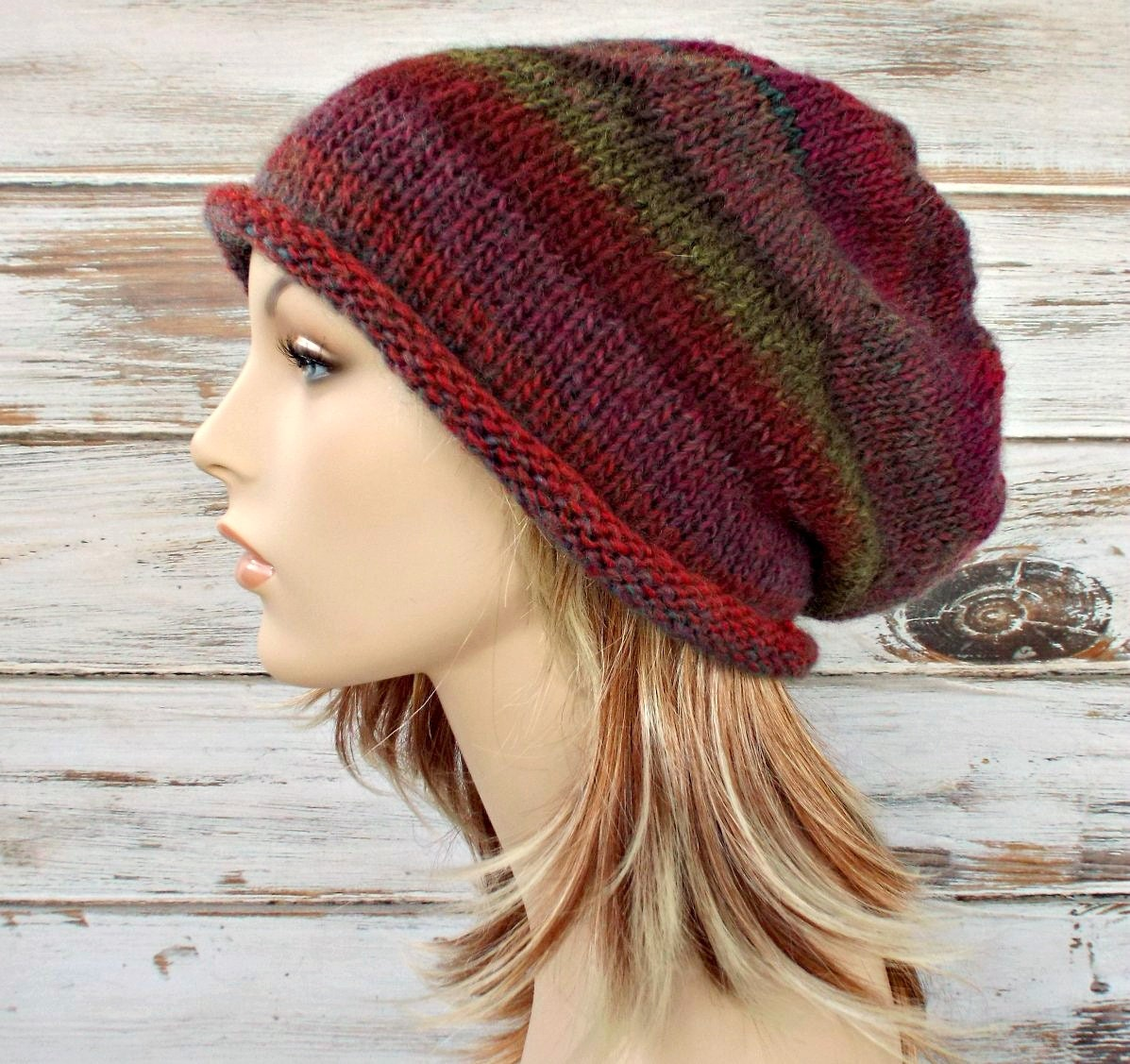 Download Knitting Pattern : Instant Download Knitting Pattern Knit Hat Knitting by pixiebell