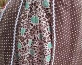 Brown Polka Dot Half Apron