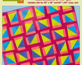 SALE! PDF Quilt Pattern - Raise The Barn Roof High - Modern Quilt Pattern - PDF File - Instant Download