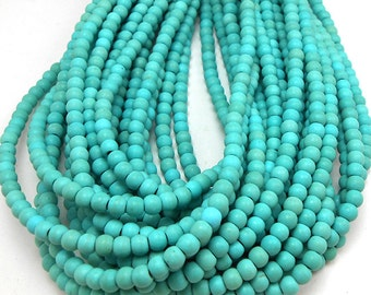 100 Turquoise Howlite Beads 4MM howlite bead (H7020-OS)