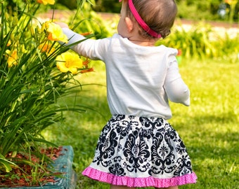 Baby Skirt Pattern with built in diaper cover - PDF sewing pattern