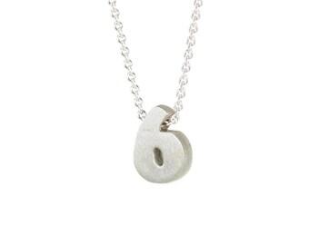 6 - block number necklace