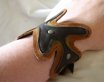 Leather and Suede Cuff