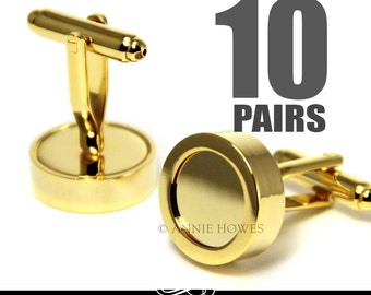 Gold Photo Cuff Links. Make Your Own DIY Custom Photo Cuff Links for the Wedding Party. Annie Howes. 10 Pairs.
