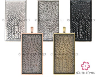 48X24 Rectangle Pendant Trays. Large 1x2 Rectangle Pendant Trays Fits 1x2 Glamour FX Glass. Silver, Copper, Bronze, Black Options. 5 Pack.