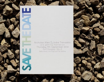 Typography Save the Date Cards - Custom - Save the Date Cards - Deposit