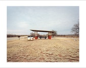 Original Fine Art Photograph Print Photography Landscape Mid Century Modern Desert Road Trip Americana Minimalist Film Winter