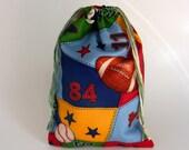 Kids Sport Storage Drawstring Bag, Children drawstring bag, reusable kids storage bag, crayons drawstring bag, sports theme kids bag