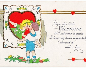 Vintage 1920s Valentine Post Card - So Sweet and Pretty