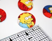 Simpsons Fabric Pinback Button Handmade Your Choice