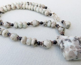 Sesame Jasper and Sterling Silver Necklace