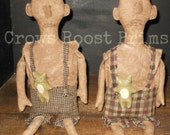 Primitive Man Boy Doll Oliver and Frog 351e Crows Roost Prims epattern  SaLE immediate download