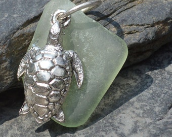 HONU - Hawaiian TURTLE Sea Glass PENDANT
