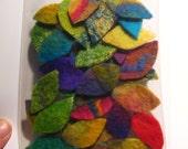 30  Handmade Felt Leaves