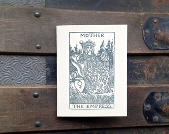 tarot card mother's day letterpress card