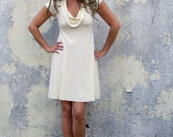 Organic Gypsy Babydoll Short Dress (light hemp/organic cotton knit) - organic dress